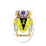 Hanssen Oval Car Magnet