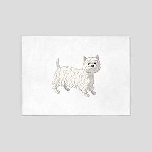 West Highland Terrier 5'x7'Area Rug