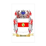 Hanson 3 Sticker (Rectangle 50 pk)