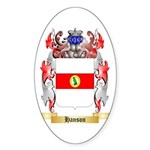 Hanson 3 Sticker (Oval 50 pk)