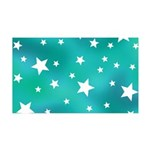 Turquoise Blue and White Stars Wall Sticker