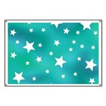 Turquoise Blue and White Stars Banner