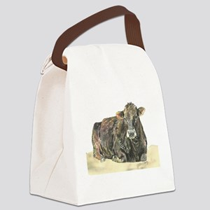 cow lying down Canvas Lunch Bag