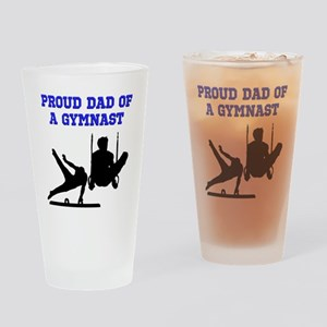 GYMNAST DAD Drinking Glass