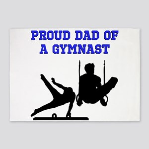 GYMNAST DAD 5'x7'Area Rug