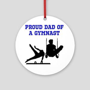 GYMNAST DAD Ornament (Round)