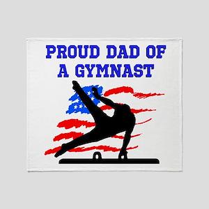 GYMNAST DAD Throw Blanket