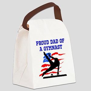 GYMNAST DAD Canvas Lunch Bag