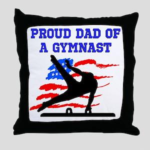 GYMNAST DAD Throw Pillow