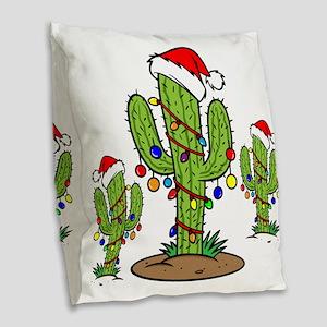 Funny Arizona Christmas  Burlap Throw Pillow