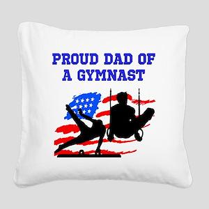 GYMNAST MOM Square Canvas Pillow