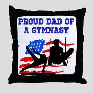 GYMNAST MOM Throw Pillow