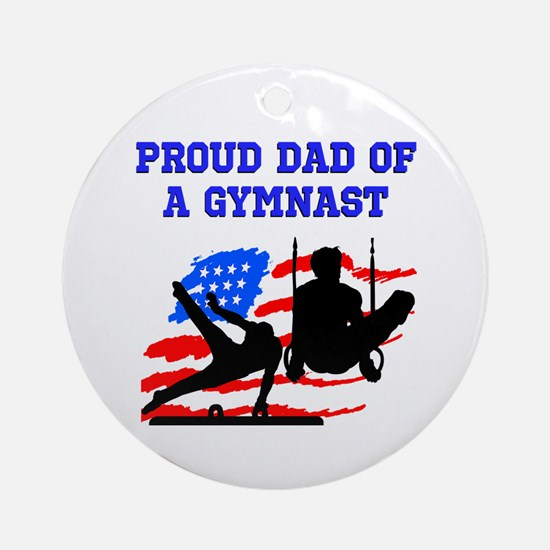 GYMNAST MOM Ornament (Round)