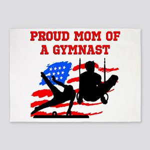 GYMNAST MOM 5'x7'Area Rug