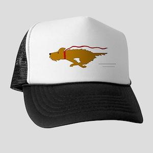 Dog Running Trucker Hat