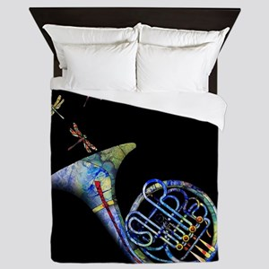 French Horn Queen Duvet