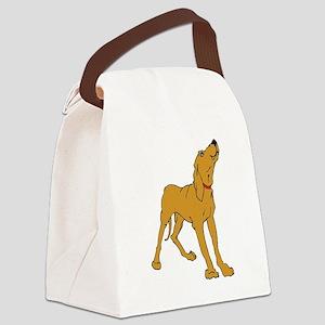 Redbone Coonhound Canvas Lunch Bag