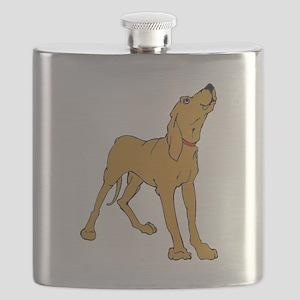Redbone Coonhound Flask