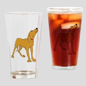 Redbone Coonhound Drinking Glass