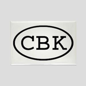 CBK Oval Rectangle Magnet