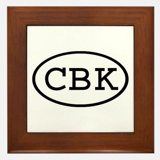 CBK Oval Framed Tile