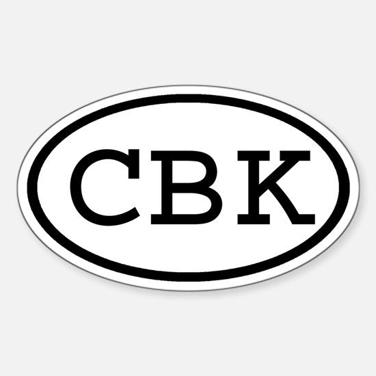 CBK Oval Oval Decal