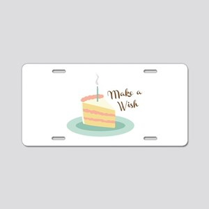 Make a Wish Aluminum License Plate