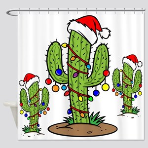 Funny Arizona Christmas Shower Curtain