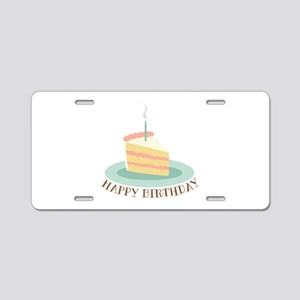 Happy Birthday Cake Aluminum License Plate
