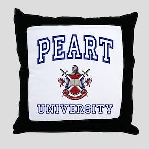 PEART University Throw Pillow