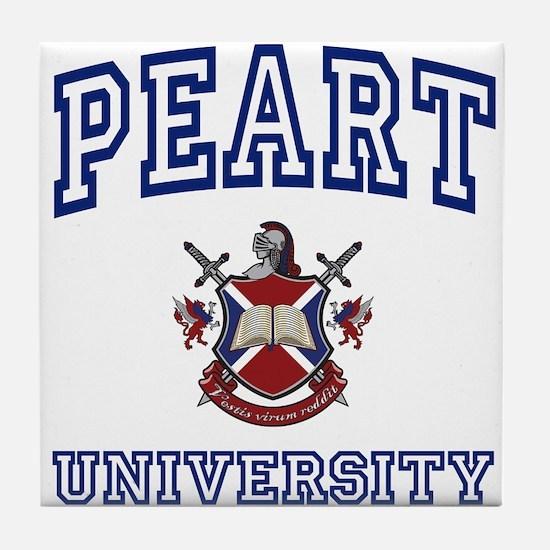 PEART University Tile Coaster