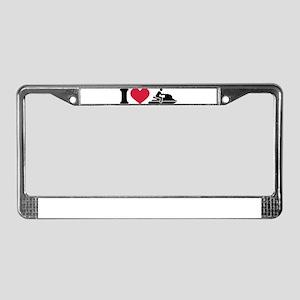 I love Jet ski racing License Plate Frame