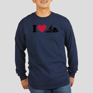 I love Jet ski racing Long Sleeve Dark T-Shirt