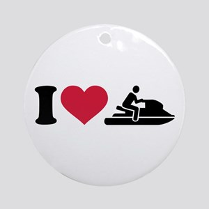 I love Jet ski racing Ornament (Round)