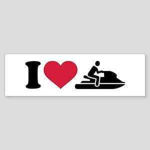 I love Jet ski racing Sticker (Bumper)