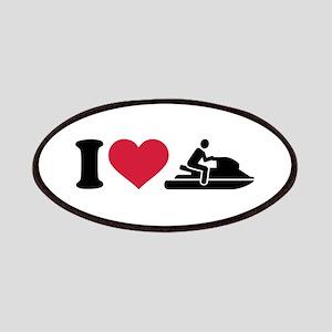 I love Jet ski racing Patches