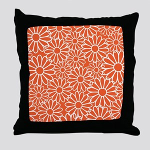 Daisy Flowered Throw Pillow