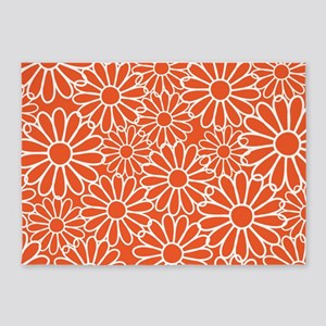 Daisy Flowered 5'x7'Area Rug