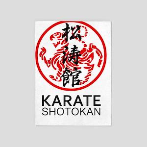 Shotokan Karate symbol and Kanji 5'x7'Area Rug