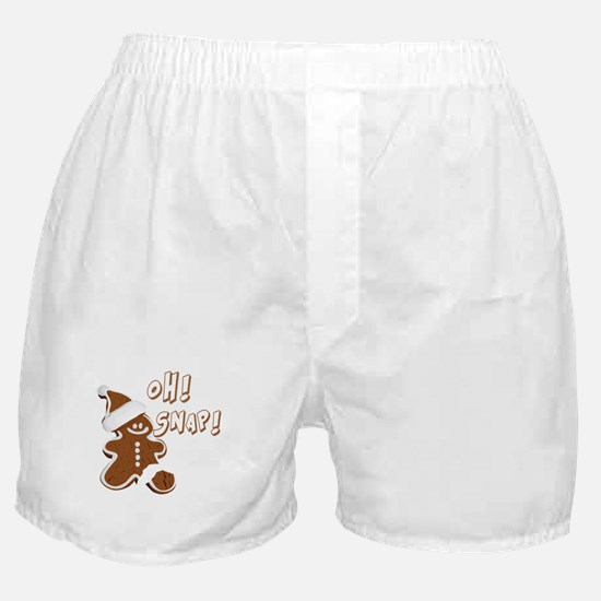 OH SNAP Gingerbread Man Boxer Shorts