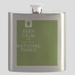 NPF Keep Calm green Flask