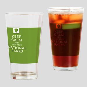 NPF Keep Calm green Drinking Glass