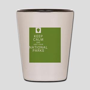 NPF Keep Calm green Shot Glass