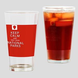NPF keep calm red Drinking Glass