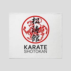 Shotokan Karate symbol and Kanji Throw Blanket