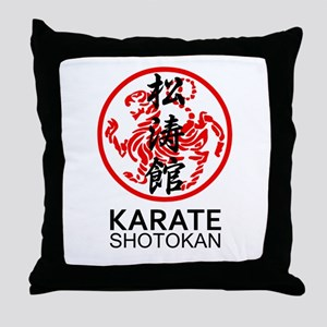 Shotokan Karate symbol and Kanji Throw Pillow