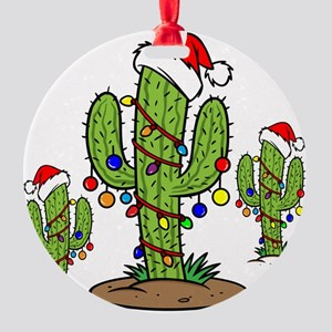 Funny Arizona Christmas Round Ornament