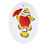 Christmas Clownfish Ornament (Oval)