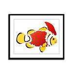 Christmas Clownfish Framed Panel Print