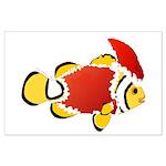 Christmas Clownfish Posters